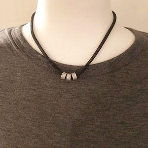 Mesh rhinestone necklace
